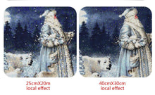 Load image into Gallery viewer, Santa & White Bear on Snow Paintings