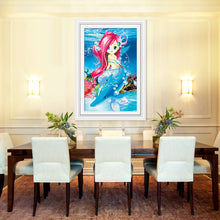Load image into Gallery viewer, Little Adorable Mermaid Special Shaped Diamonds Painting Kit