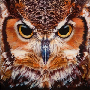 Angry Big Owl Diamond Painting