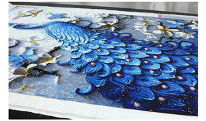 Beautiful Majestic Blue Peacock Diamond Painting Kit