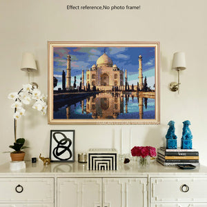 Stunning View of Taj Mahal Diamond Painting Kit