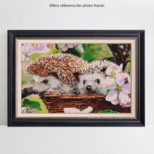Load image into Gallery viewer, Adorable Hedgehog Couple in the Flowers