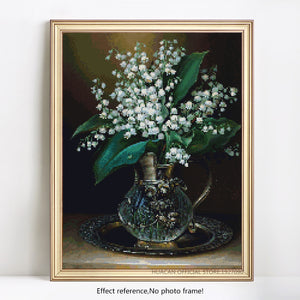Beautiful Small White Flowers Painting