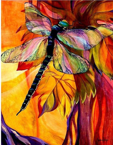 Big Colorful Dragonfly Diamonds Painting