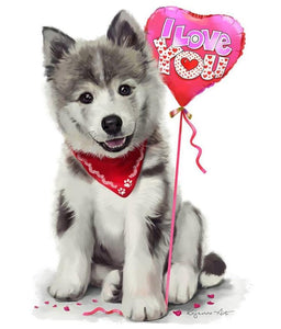 love dog diamond painting