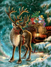 Load image into Gallery viewer, Elegant Reindeer in the Snow