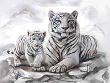 Load image into Gallery viewer, tigers diamond painting kits