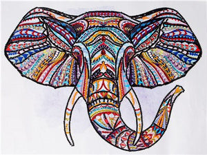 Colorful Special Shaped Tiger & Elephant