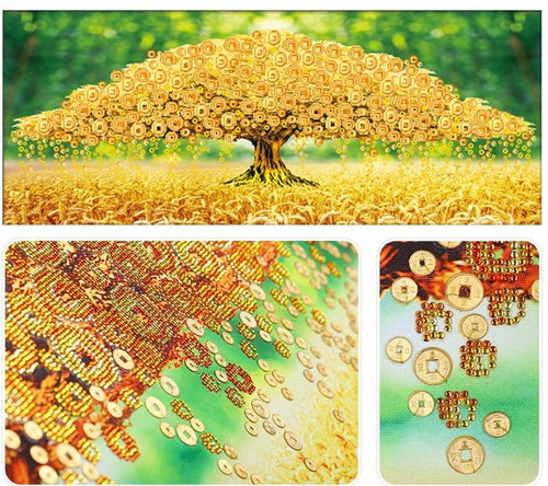 Special Yellow Tree Diamond Painting