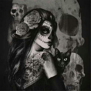 Gorgeous Witch with Black Cat