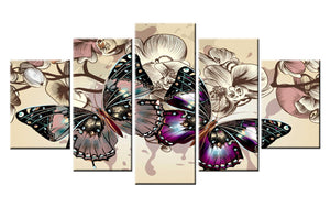 Amazing Butterfly 5 Panel Diamond Paintings for your Wall