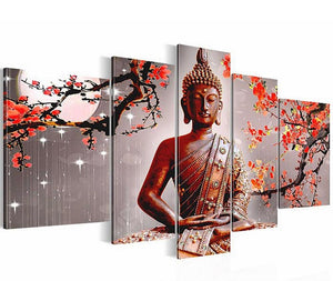 Gautam Budha 5 Piece Diamond Painting for your Wall