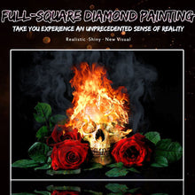 Load image into Gallery viewer, skull diamond painting kit