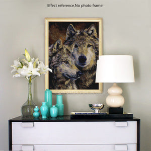 Beautiful Wolves Painting