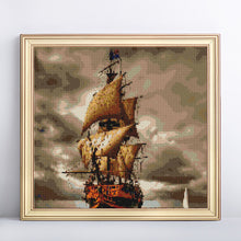 Load image into Gallery viewer, Big Ship in Stormy Sea