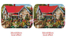 Load image into Gallery viewer, Beautiful House and Colorful Flowers