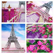 Load image into Gallery viewer, Eiffel Tower Covered in Flowers Painting for your Wall
