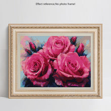 Load image into Gallery viewer, Attractive Pink Roses DIY Diamond Kits
