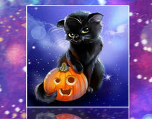 Load image into Gallery viewer, Big Black Halloween Cat