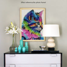 Load image into Gallery viewer, Big Colorful Cat Diamond Painting for your Wall