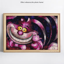 Load image into Gallery viewer, Big Cheshire Cat Cartoon Painting Diamond Kit