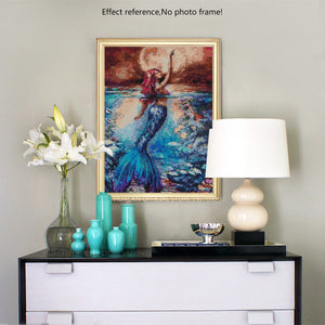 Gorgeous Colorful Mermaid Diamond Painting