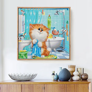 Big Cat in Bathroom