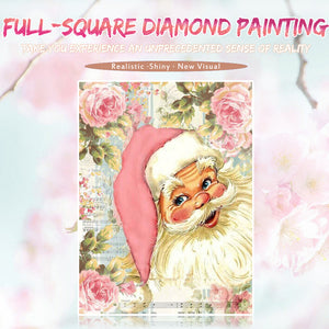 Santa in Flowers Painting DIY for Adults