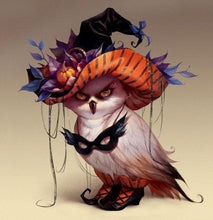 Load image into Gallery viewer, Angry Halloween Owl Diamond Painting