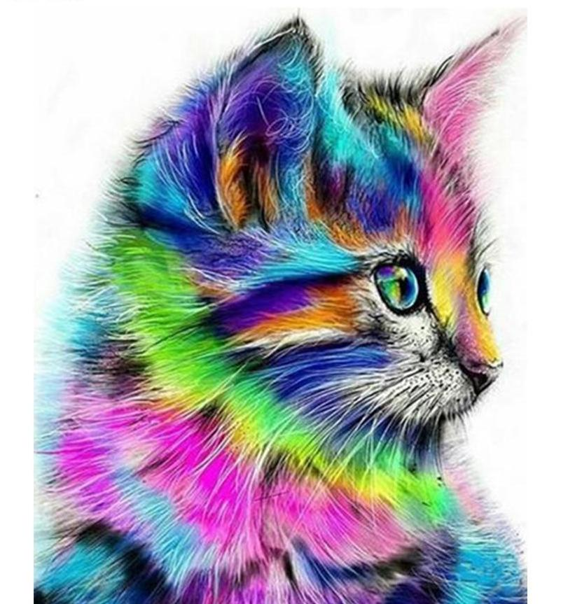 Big Colorful Cat Diamond Painting for your Wall
