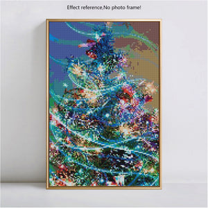 Beautiful Decorated Christmas Tree Diamond Art Kit
