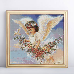 Adorable Flaying Angel Diamond Painting Kit