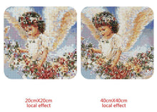 Load image into Gallery viewer, Adorable Flaying Angel Diamond Painting Kit