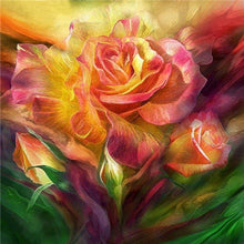 Load image into Gallery viewer, Colorful Butterflies on the Rose Diamond Painting