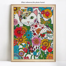 Load image into Gallery viewer, Colorful Artistic Cat Diamond Art Painting Kit
