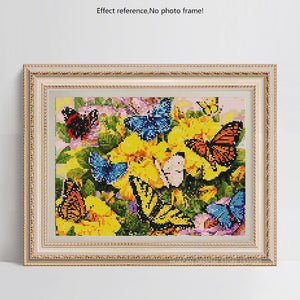 Adorable Butterflies on Yellow Flowers