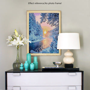 Beautiful Winter Sunset Diamond Painting Kit