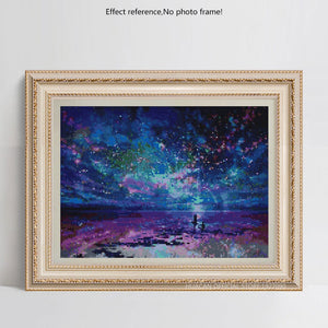 Colorful Romantic Starry Night Diamond Painting