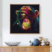 Load image into Gallery viewer, Amazing Colorful Monkey Diamond Painting