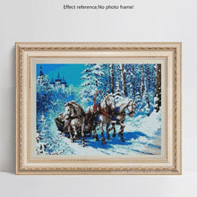 Load image into Gallery viewer, Beautiful Horses Running on the Snow