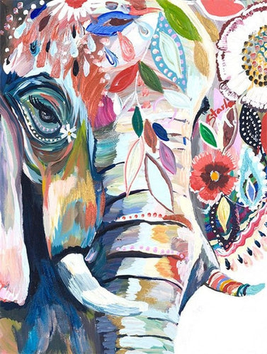 Colorful Artistic Elephant Diamond Paint kit