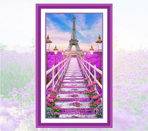 Eiffel Tower Covered in Flowers Painting for your Wall