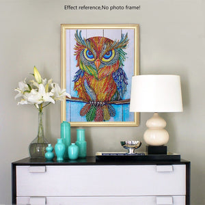 Huge Colorful Staring Owl