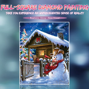 Happy Snowman at Christmas Diamond Painting Kits