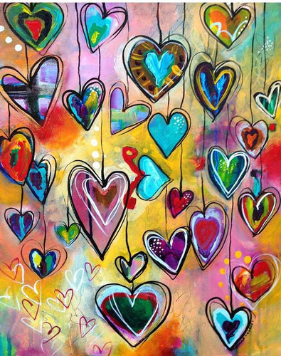 Beautiful Colorful Hearts
