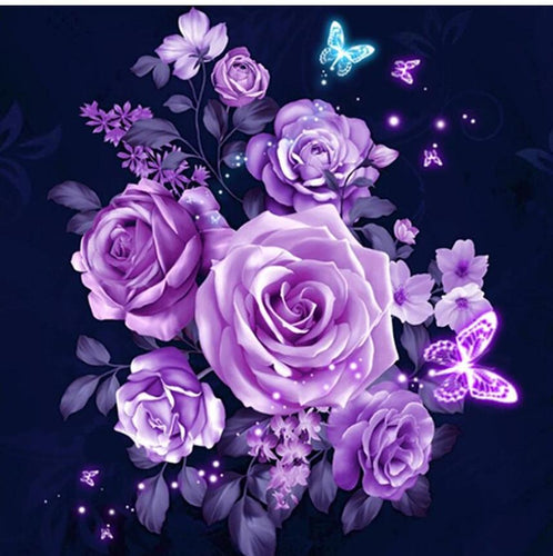 Graceful Purple Roses