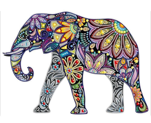 floral elephant diamond art