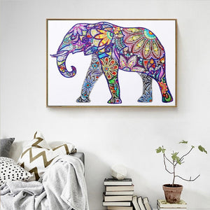 Beautiful Artistic Floral Elephant