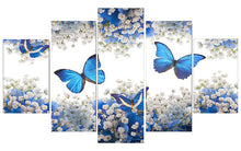 Load image into Gallery viewer, Butterflies 5 Piece Paintings for your Wall