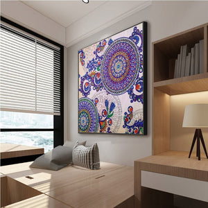 Round Shaped Colorful Special Diamond Painting